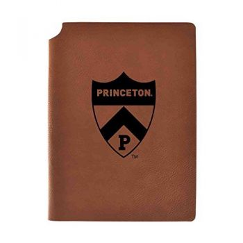 Princeton University Velour Journal with Pen Holder|Carbon Etched|Officially Licensed Collegiate Journal|