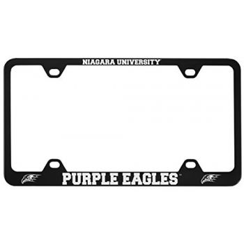 Niagara University -Metal License Plate Frame-Black
