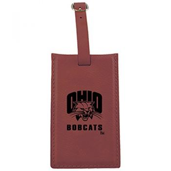 Ohio University -Leatherette Luggage Tag-Burgundy