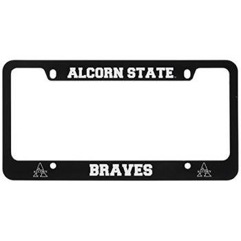 Alcorn State University -Metal License Plate Frame-Black