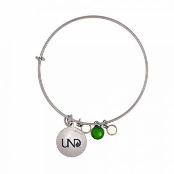 University of North Dakota-Frankie Tyler Charmed Bracelet
