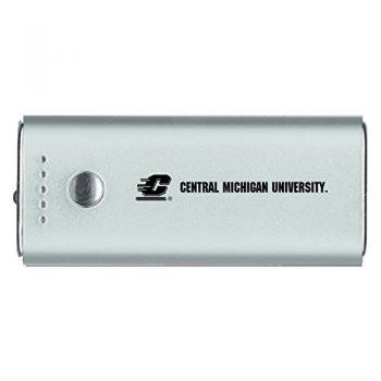Central Michigan University -Portable Cell Phone 5200 mAh Power Bank Charger -Silver