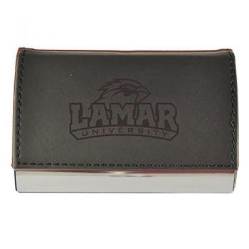 Velour Business Cardholder-Lamar University-Black