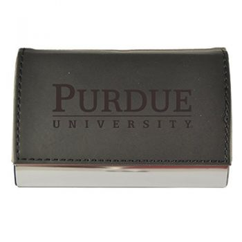 Velour Business Cardholder-Purdue University-Black