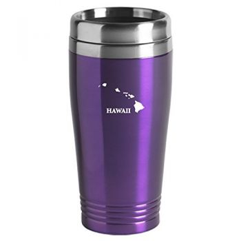 16 oz Stainless Steel Insulated Tumbler - Hawaii State Outline - Hawaii State Outline