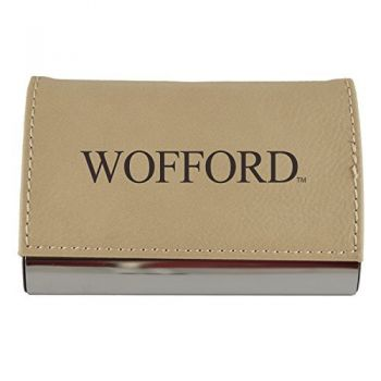 Velour Business Cardholder-Wofford College-Tan