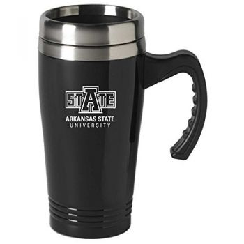 Arkansas State University-16 oz. Stainless Steel Mug-Black