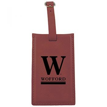 Wofford College-Leatherette Luggage Tag-Burgundy