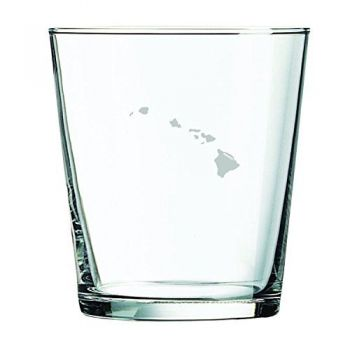 13 oz Cocktail Glass - Hawaii State Outline - Hawaii State Outline