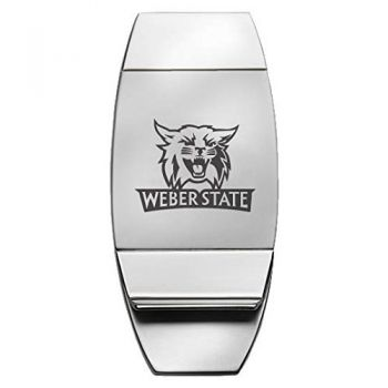 Weber State University - Two-Toned Money Clip - Silver