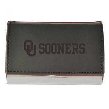 Velour Business Cardholder-University of Oklahoma-Black