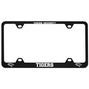 Towson University -Metal License Plate Frame-Black