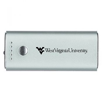 West Virginia University -Portable Cell Phone 5200 mAh Power Bank Charger -Silver