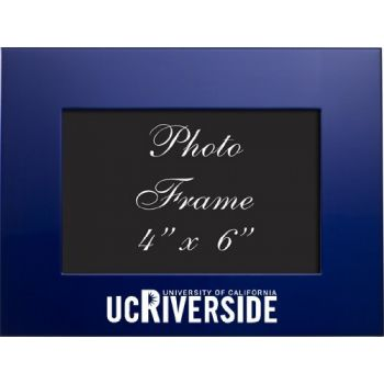 University of California, Riverside - 4x6 Brushed Metal Picture Frame - Blue