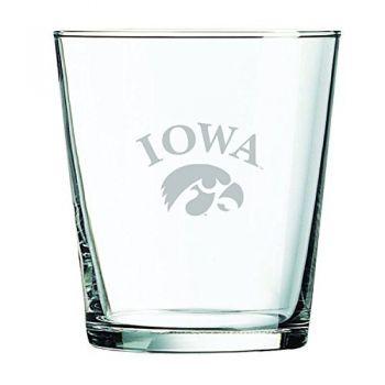 University of Iowa-13 oz. Rocks Glass