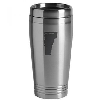 16 oz Stainless Steel Insulated Tumbler - Vermont State Outline - Vermont State Outline