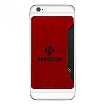 Davidson College-Cell Phone Card Holder-Red