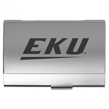 Eastern Kentucky University - Two-Tone Business Card Holder - Silver