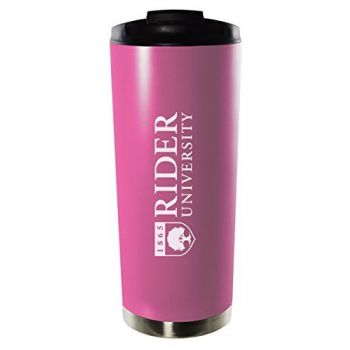 Rider University-16oz. Stainless Steel Vacuum Insulated Travel Mug Tumbler-Pink
