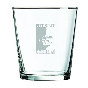 Pittsburg State University -13 oz. Rocks Glass