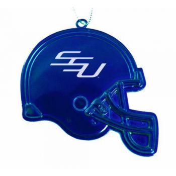 Savannah State University - Christmas Holiday Football Helmet Ornament - Blue