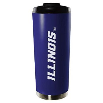 University of Illinois at Urbana–Champaign-16oz. Stainless Steel Vacuum Insulated Travel Mug Tumbler-Blue