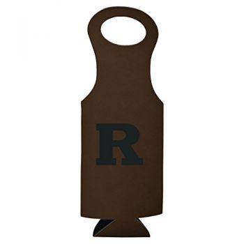 Rutgers University-Velour Wine Tote-Brown