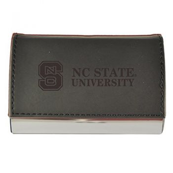 Velour Business Cardholder-North Carolina State University-Black