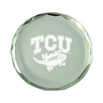 Texas Christian University-Crystal Paper Weight
