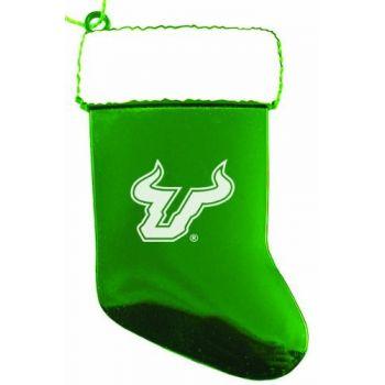 University of South Florida - Christmas Holiday Stocking Ornament - Green