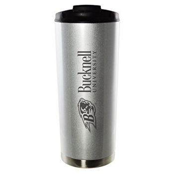 Bucknell University-16oz. Stainless Steel Vacuum Insulated Travel Mug Tumbler-Silver