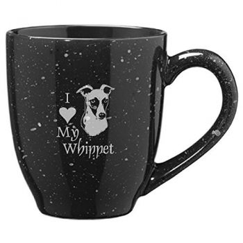 16-ounce Ceramic Coffee Mug- I love my Whippet-Black
