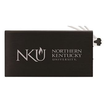 8000 mAh Portable Cell Phone Charger-Northern Kentucky University -Black