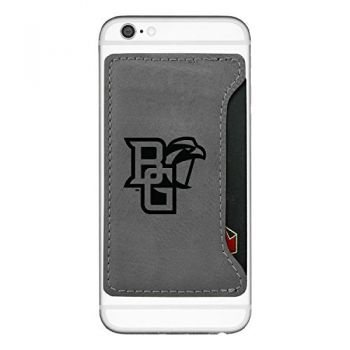 Bowling Green State University-Cell Phone Card Holder-Grey