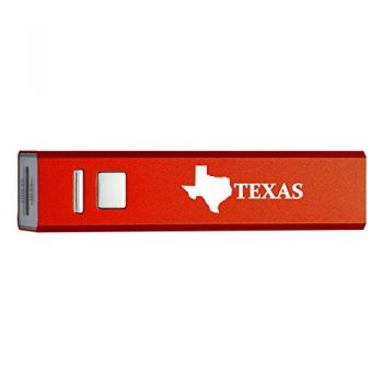Texas-State Outline-Portable 2600 mAh Cell Phone Charger-