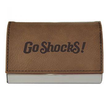 Velour Business Cardholder-Wichita State University-Brown