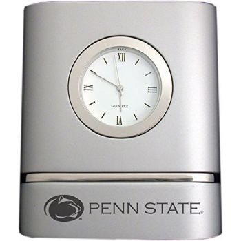 Pennsylvania State University- Two-Toned Desk Clock -Silver