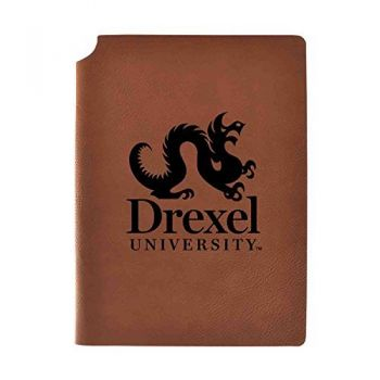 Drexel University Velour Journal with Pen Holder|Carbon Etched|Officially Licensed Collegiate Journal|