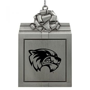 Utah Valley University -Pewter Christmas Holiday Present Ornament-Silver