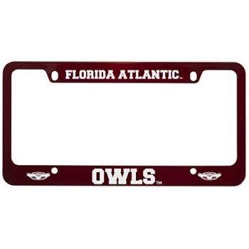 Florida Atlantic University -Metal License Plate Frame-Red
