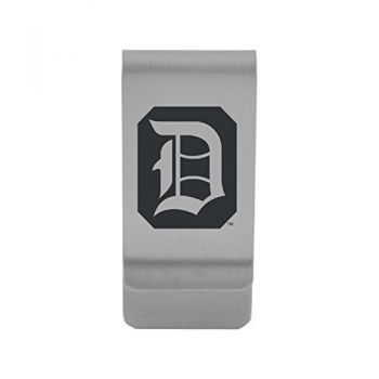 Duquesne University|Money Clip with Contemporary Metals Finish|Solid Brass|High Tension Clip to Securely Hold Cash, Cards and ID's|Gold