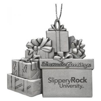Slippery Rock University - Pewter Gift Package Ornament