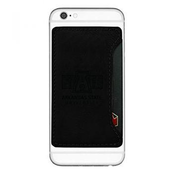 Arkansas State University-Cell Phone Card Holder-Black