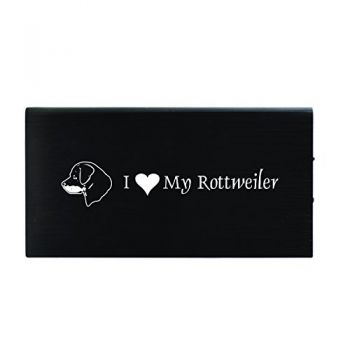 Quick Charge Portable Power Bank 8000 mAh  - I Love My Rottweiler