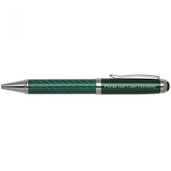 Florida Gulf Coast University -Carbon Fiber Ballpoint Pen-Green