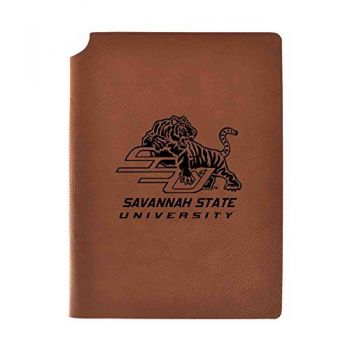 Savannah State University Velour Journal with Pen Holder|Carbon Etched|Officially Licensed Collegiate Journal|
