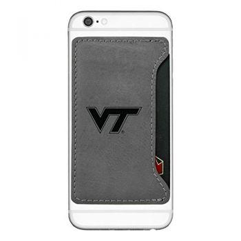 Virginia Tech-Cell Phone Card Holder-Grey