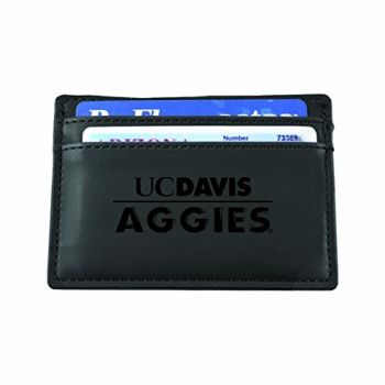 University of California, Davis-European Money Clip Wallet-Black