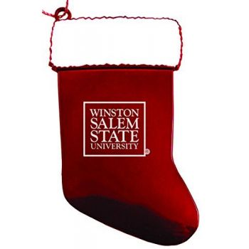 Winston-Salem State University - Christmas Holiday Stocking Ornament - Red