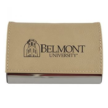 Velour Business Cardholder-Belmont University-Tan